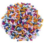 Artstraws Striped Straw Beads, Assorted Colours and Sizes (approx 1000)