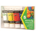 Reeves 75ml Acrylic Tube Set – Pack of 5