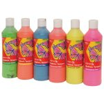 Reeves 500ml Redimix Tempera Fluorescent Pack of 6