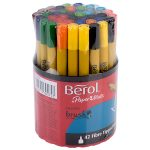 Berol Colour Brush Pens – Assorted Tub (Pack of 42)