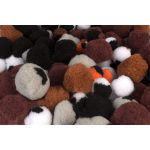 RVFM Pom Poms, Animal Colours, Assorted Sizes – Pack of 100
