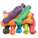 RVFM Raffia, 10 Assorted Colours, Each 25g