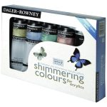 Daler Rowney Acrylic Mediums Shimmering Colours Assorted Pack 5 x 75ml