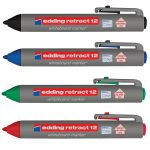 Edding 4-12-4 Retract 12 Whiteboard Marker Assorted 4pk