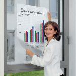 Edding 7-159100 1591 Magic-Chart Plain Whiteboard Pack of 25 Sheets