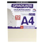 Daler Rowney A4 Graduate Mount Board Pack of 12 Ivory
