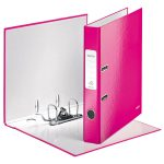 Leitz Pink Lever Arch File Laminated WOW 180 degree A4 50mm