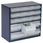 Raaco 137560 600 Series 616-123 Cabinet 16 Mixed Drawers