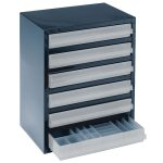 Raaco 137591 6-3 6 Drawer 250 Series Storage Cabinet