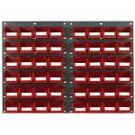 Topstore TC2 Wall Mounted Louvred Panel Kits 2 x TP2 and 48 x TC2 – Red