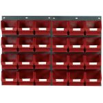 Topstore TC3 Wall Mounted Louvred Panel Kits 2 x TP2 and 24 x TC3 – Red