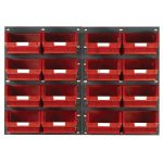 Topstore TC4 Wall Mounted Louvred Panel Kits 2 x TP2 and 16 x TC4 – Red