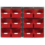 Topstore TC5 Wall Mounted Louvred Panel Kits 2 x TP2 and 12 x TC5 – Red