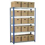 Eco-Rax Shelving Bay 1800 x 1200 x 450mm 15 x Brown Archive Boxes …