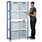 Eco-Rax Shelving Bay 1800 x 900 x 450mm 8 x 40 Ltr Storemaster Con…