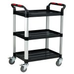 Utility Tray Trolley Standard – 3 Shelves – 980 x 460 x 750mm Capa…