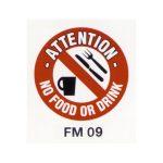 Beaverswood Floor Marker 430mm dia. No Food or Drink