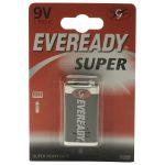 Eveready 1222BP-1 PP3 Zinc Carbon Super
