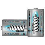 Ansmann 5030642 D – Pack of 2 10000mAh NiMH Cell