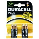 Duracell Plus 5000394018457 MN2400B AAA Batteries (Pack of 4)