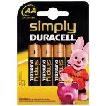 Duracell 5000394002241 SIMPLYAAK4 AA Battery (Pack of 4)