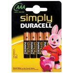 Duracell 5000394002432 SIMPLYAAAK4 AAA Battery (Pack of 4)