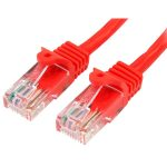 StarTech 45PAT1MRD Cat5e Snagless Patch Cable RJ45 Connectors 1m Red