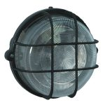 Brennenstuhl 1270700 Coloured Round Lamp IP44 100W Black