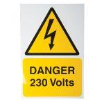 Industrial Signs IS4901RP Danger 230V 150×225 – Pack of 1 Rigid S/…