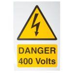 Industrial Signs IS5101RP Danger 400V 150×225 – Pack of 1 Rigid S/…