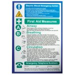 Industrial Signs IS2401RP Electric Shock/First Aid Notice 280x420mm