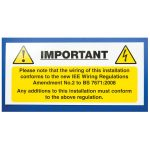 Industrial Signs IS6010SA Harmonised Cable Notice 130×60 – Pack of…