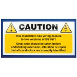 Industrial Signs IS5810SA Mixed Cable Notice 130×60 – Pack of 10 S…