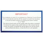 Industrial Signs IS5710SA R.c.d. Test Label 130×60 – Pack of 10 S/…