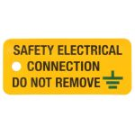 Industrial Signs IS0605RP Safety Electrical Connection 80×35 – Pac…