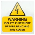 Industrial Signs IS3110SA Warning Isolate Elsewhere 75×75 – Pack o…
