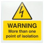 Industrial Signs IS6810SA Warning Point of Isolation 75×75 – Pack …