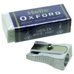 RVFM Metal Pencil Sharpener and Helix Oxford Eraser Set
