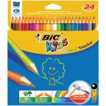 BiC Evolution Colouring Pencils Wood Free Wallet 24