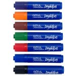 Berol Dry Wipe Marker Pen, Round Tip, Assorted Pack of 48