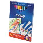 Swash Box 12 Premium Triangular Komfigrip Giant Colouring Pencils