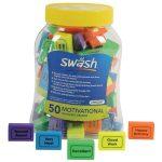 Swash Tub of 50 Motivational Eraser