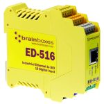 Brainboxes ED-516 Ethernet to 16 Digital Inputs + RS485 Gateway