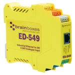 Brainboxes ED-549 Ethernet to 8 Analogue Inputs + RS485 Gateway