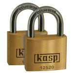 Kasp K12520D2 Premium Brass Padlock – 20mm – Twin