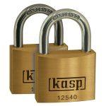Kasp K12540D2 Premium Brass Padlock – 40mm – Twin