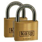Kasp K12550D2 Premium Brass Padlock – 50mm – Twin