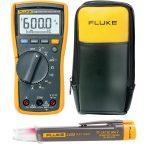 Fluke 115 + LVD2 + C90 Set 115 Multimeter + LVD2 Volt Light + C90 …