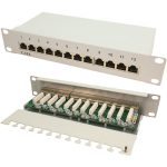 LogiLink NP0041 Patch Panel 10″ CAT6 12-Port Shielded
