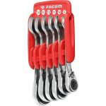 Facom 467S.JP6 Stubby Ratchet Spanner Set of 6